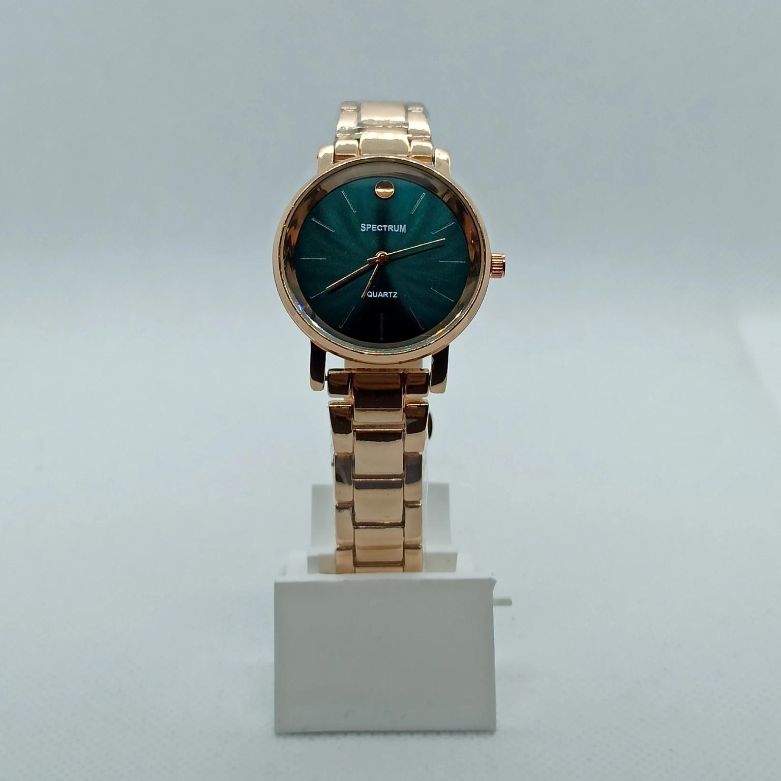 Metal Kordon Yeşil Kadranlı Kadın Saat