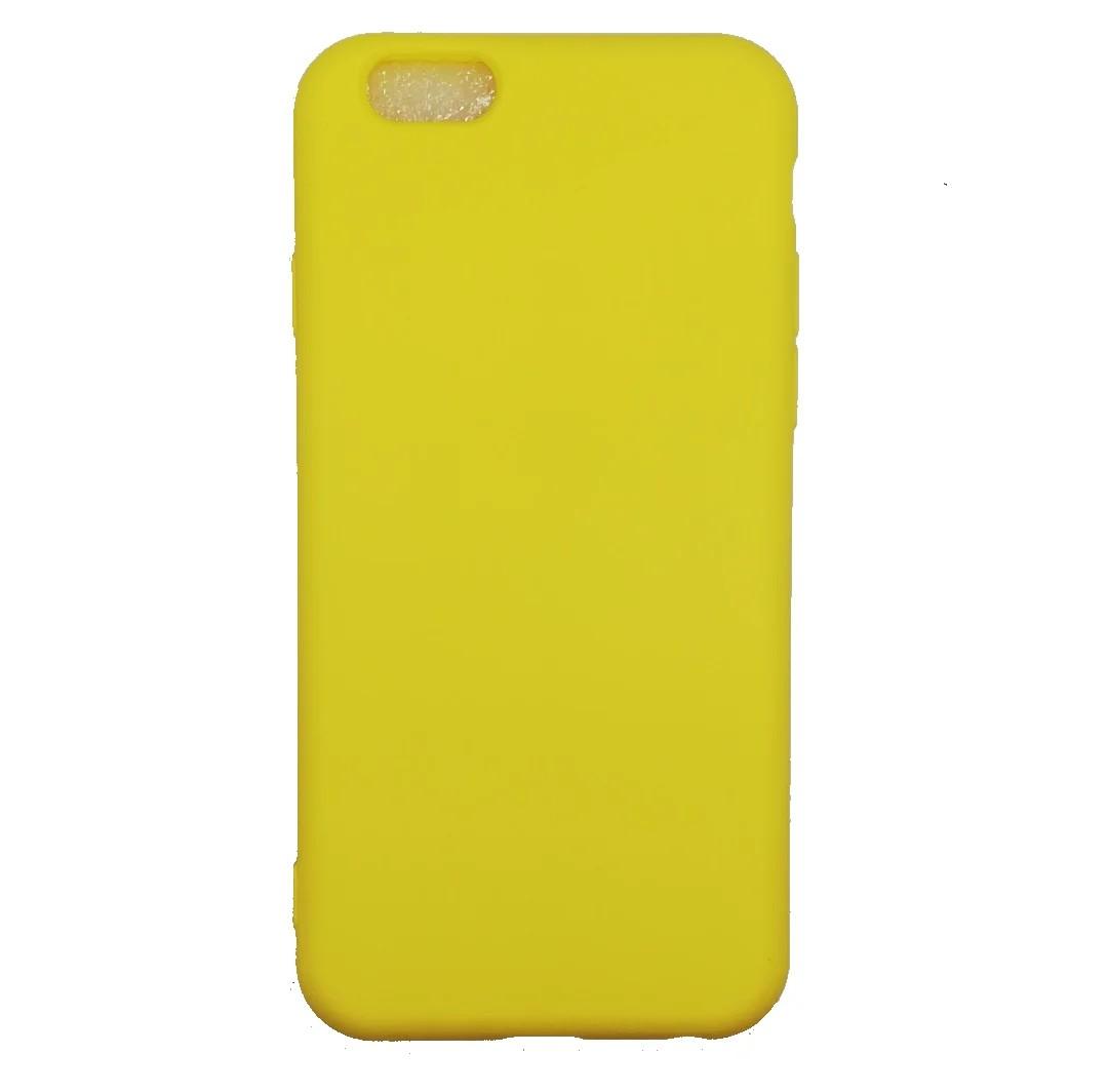 Iphone 6  Nano Silikon Sarı Kılıf