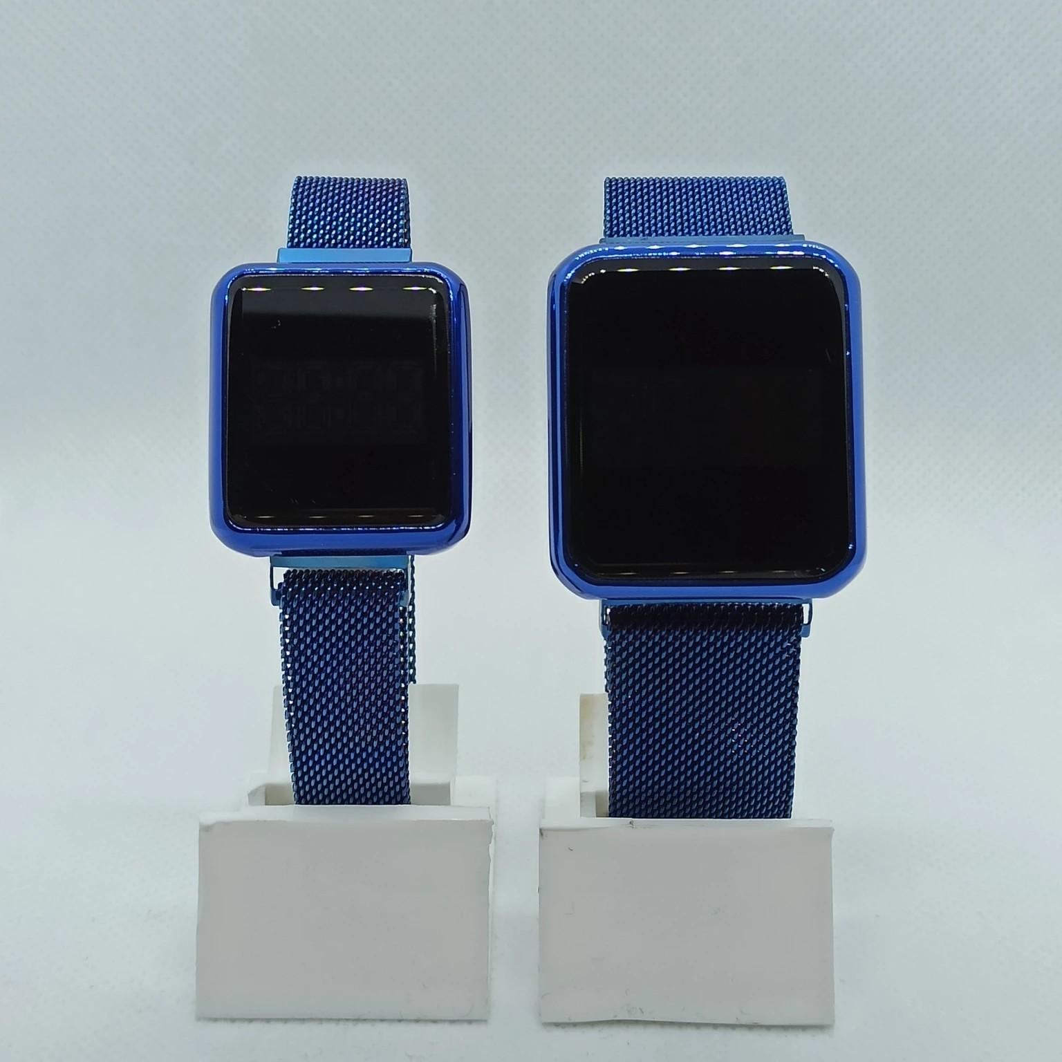 Mavi Dokunmatik Çift Saati