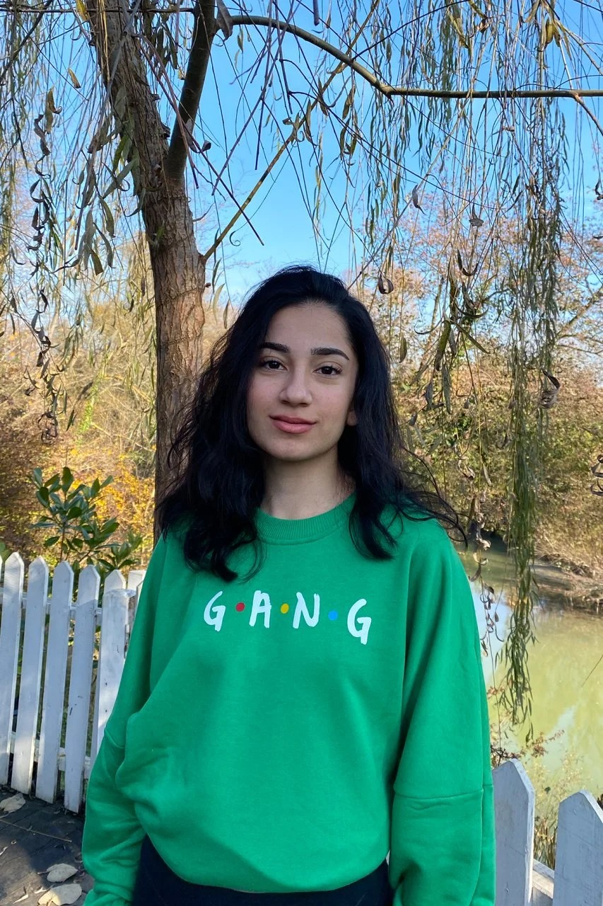Friends Yeşil Oversize Sweatshirt