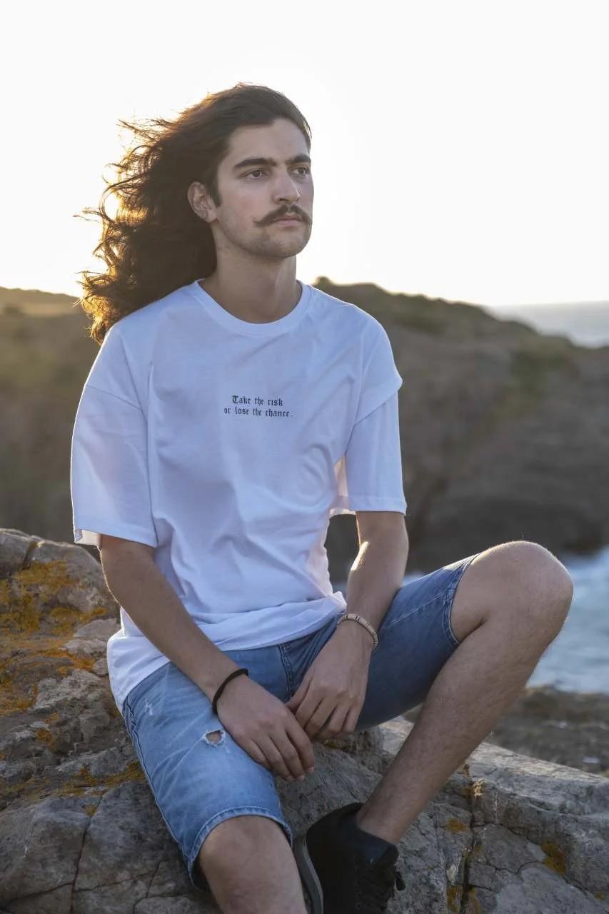 Take Risk Oversize Erkek T-Shirt