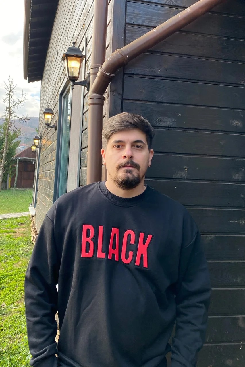 Black Oversize Unisex Sweatshirt