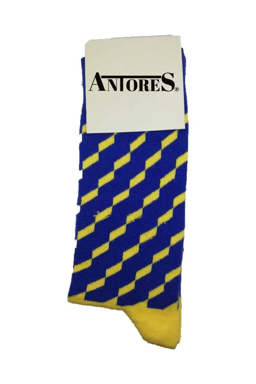 Sarı Lacivert Uzun Çorap