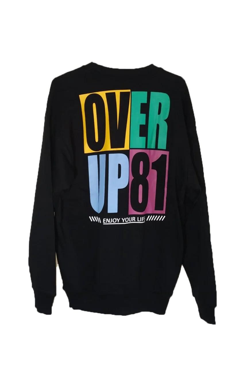 OverUp 81 Siyah Oversize Sweatshirt