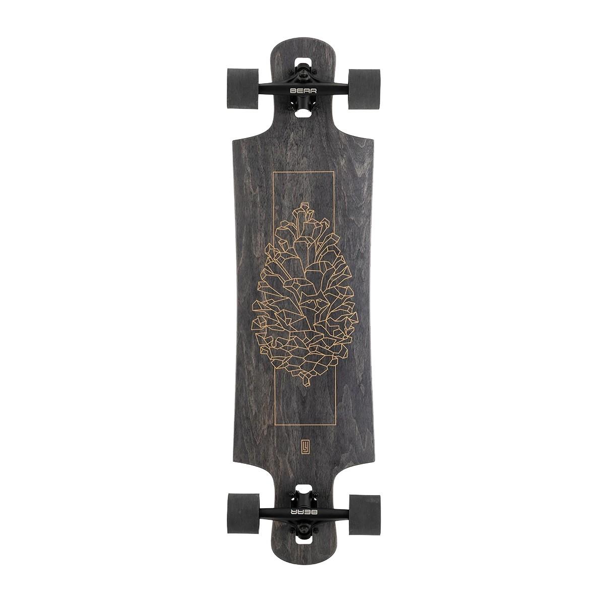 Landyachtz Drop Hammer Black Pinecone Complete Longboard 120CP-FRDHPNCBK