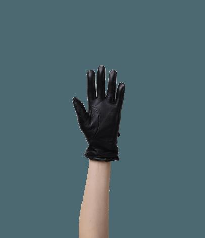 Triplo Kadın Deri Eldiven (Siyah)