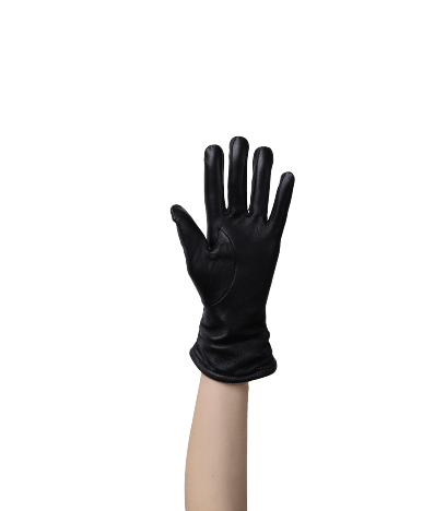 Drappo Kadın Deri Eldiven (Siyah)