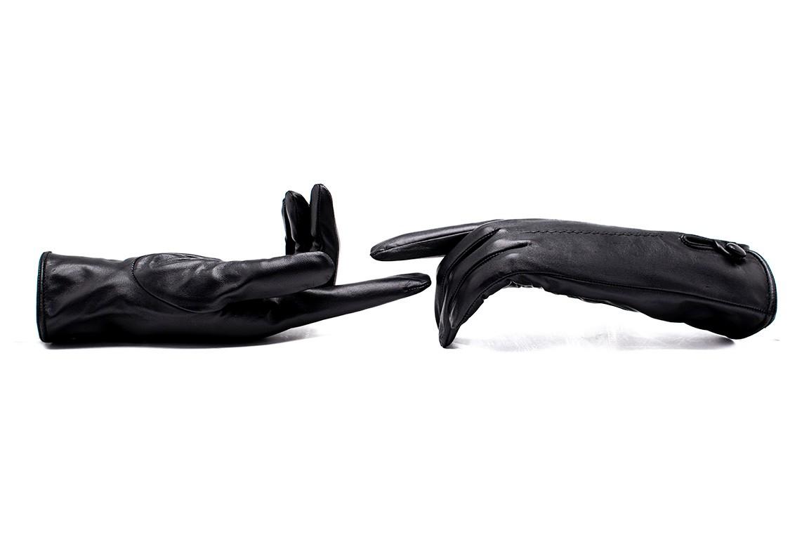 Susa Kadın Kışlık Deri Eldiven (Siyah)