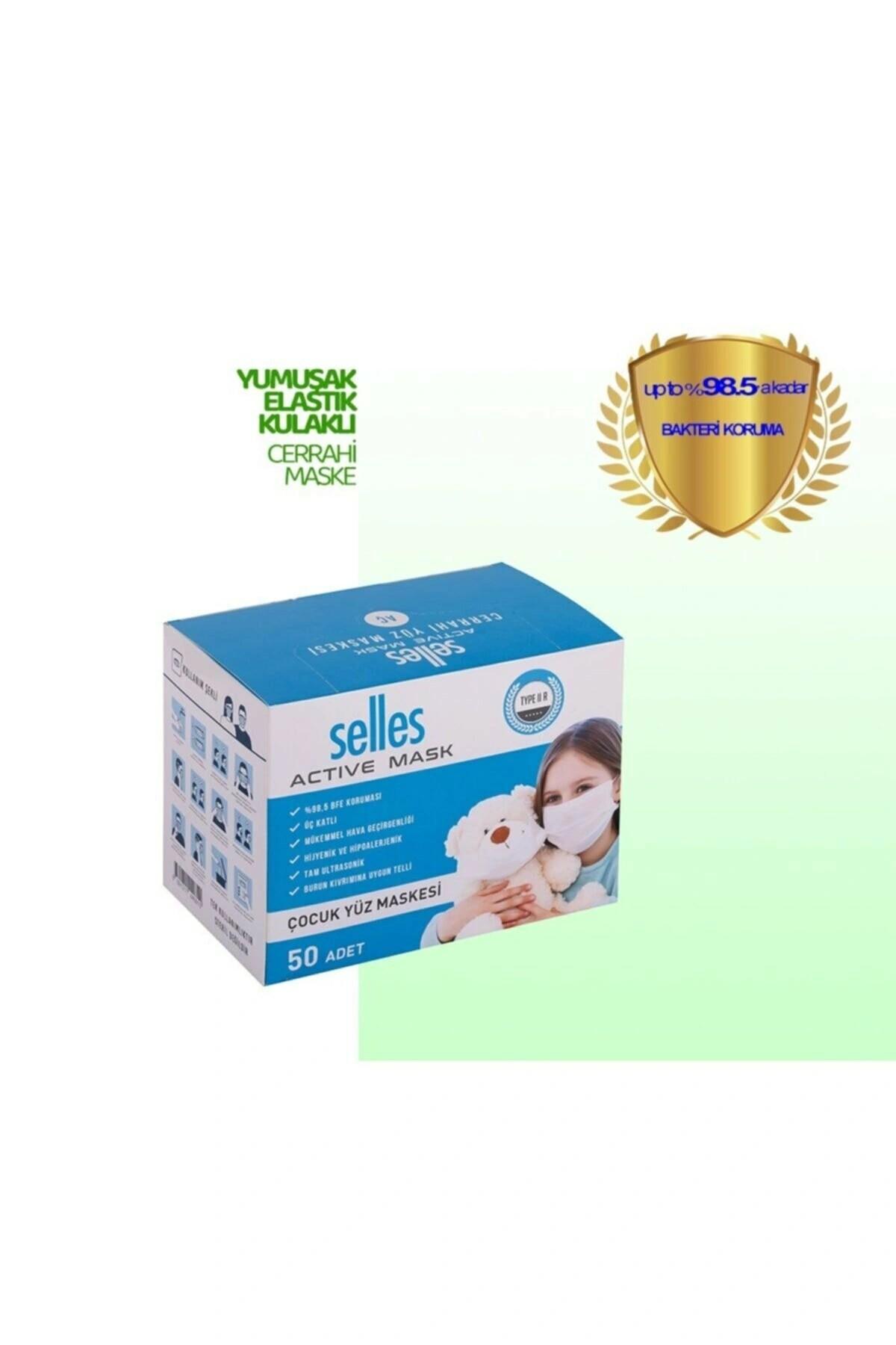 Melt.filtre Elastik Kulaklı 3 Katlı 250 Adet Cerrahi Çocuk Maskesi