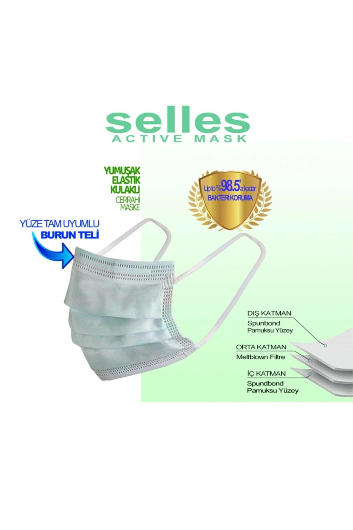 Melt.filtre Elastik Kulaklı 3 Katlı 250 Adet Cerrahi Yetişkin Maskesi