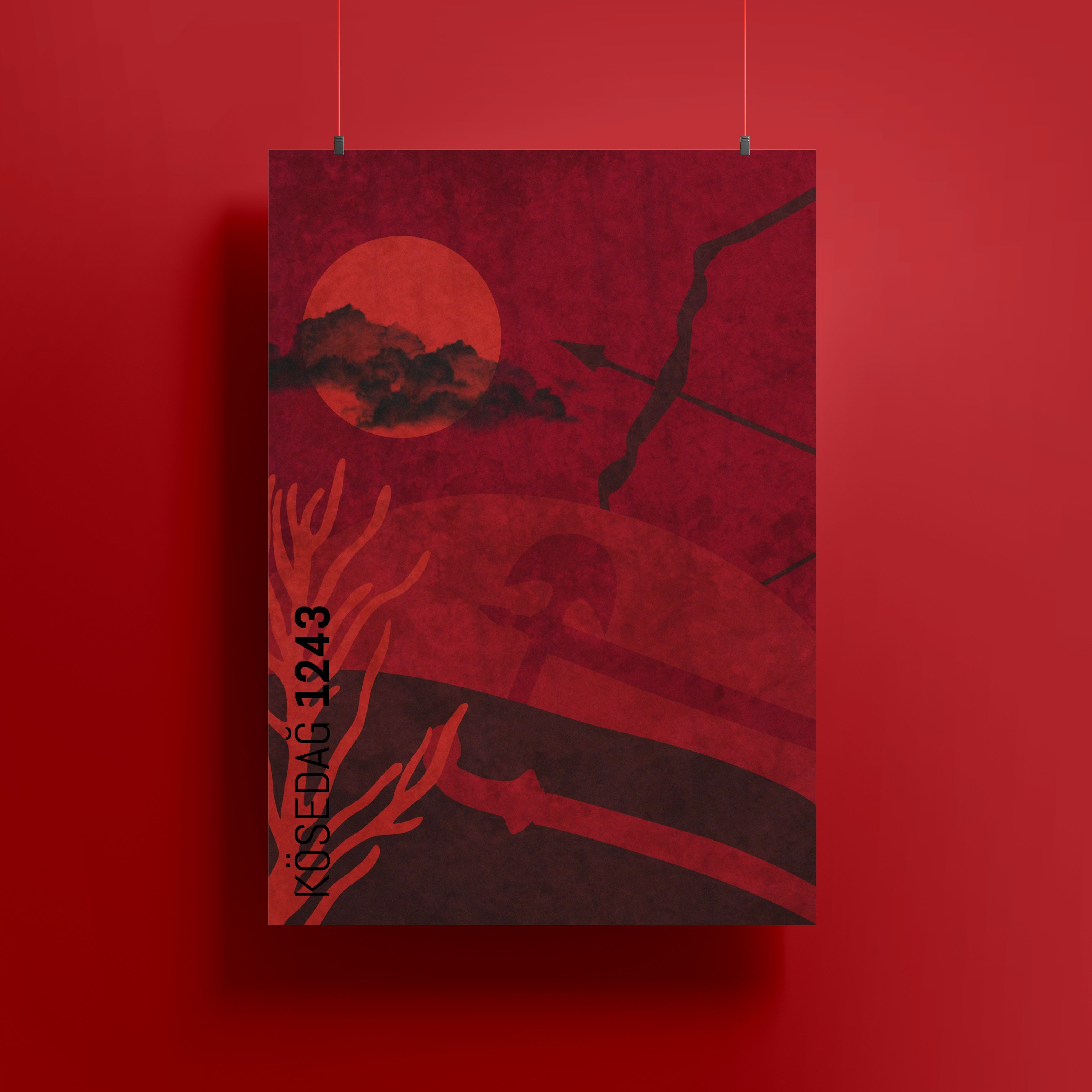 Kösedağ Muharebesi Minimal Poster