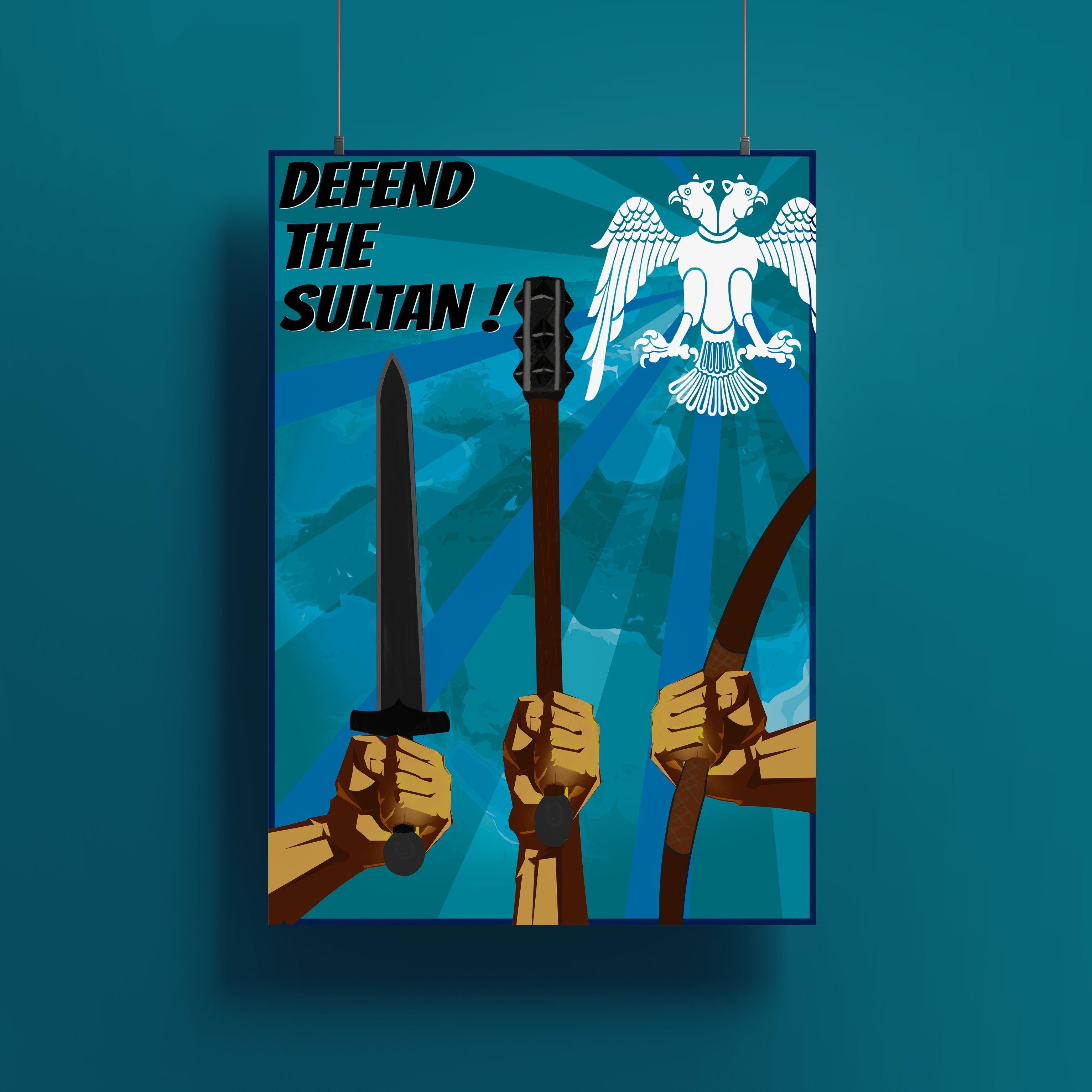 Defend The Sultan - Selçuklu Propaganda Posteri