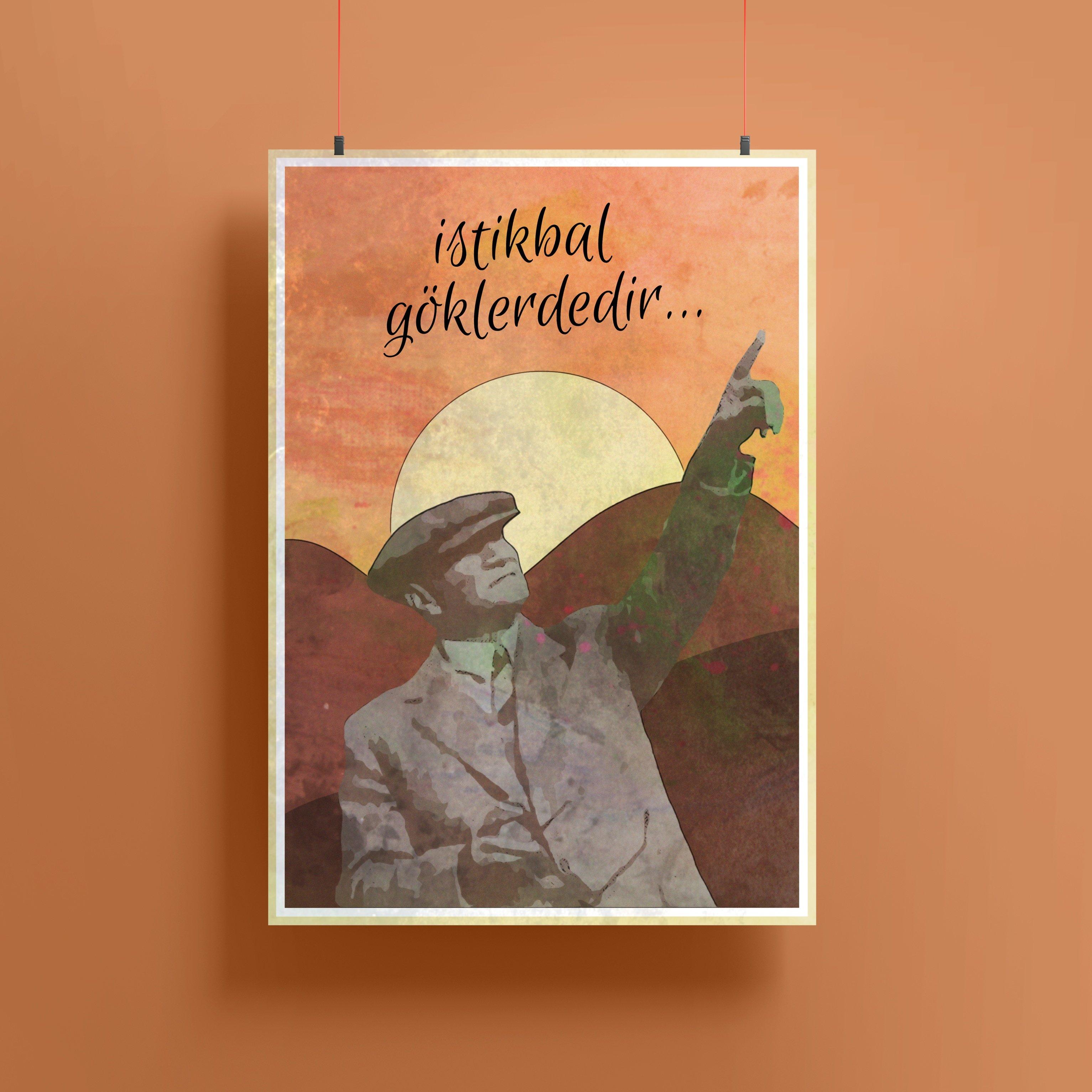 İstikbal Göklerdedir Propaganda Posteri