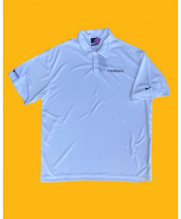 Nike 00s White Polo T Shirt (XL)