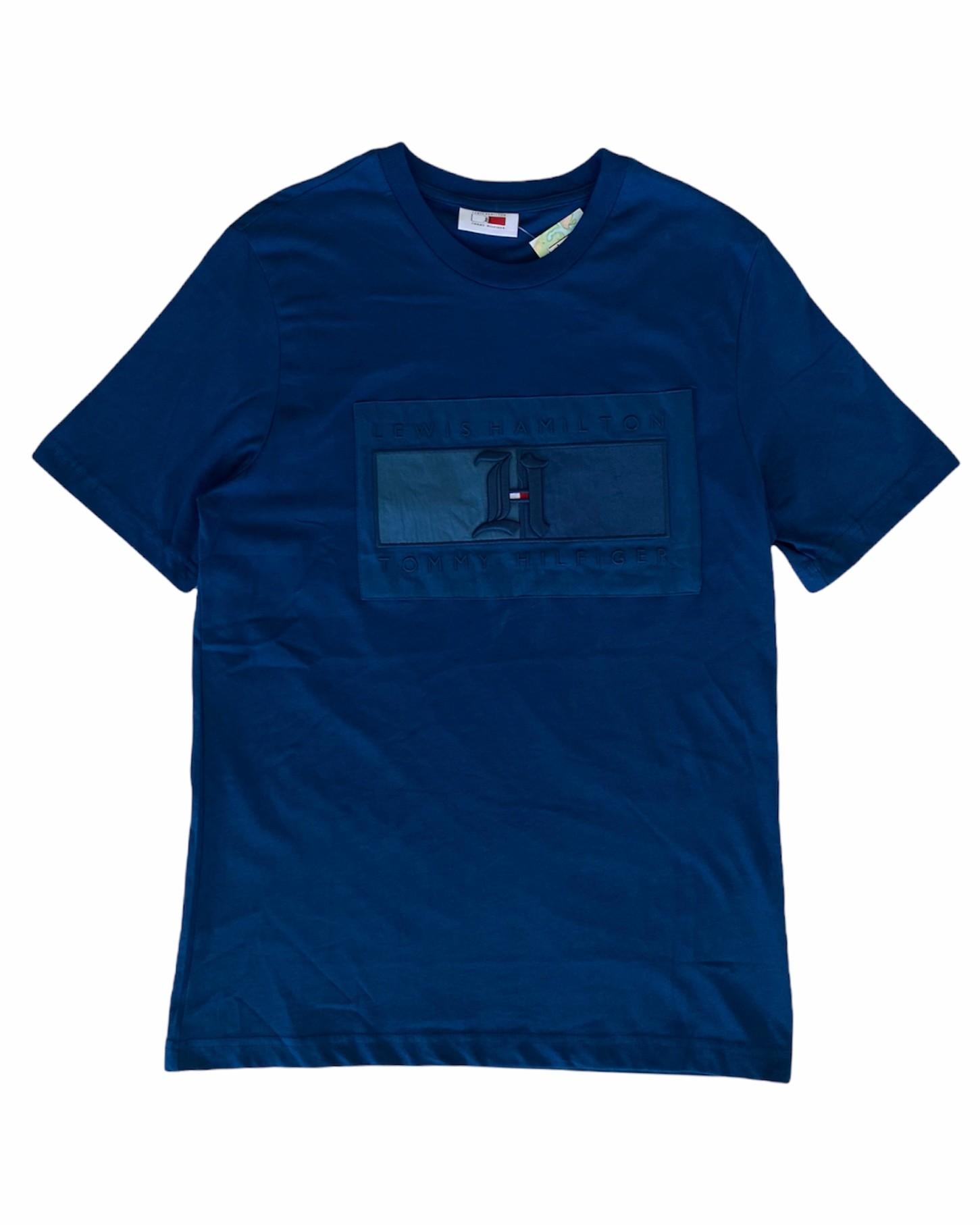 TH. X Lewis Hamilton Flag Lacivert T Shirt (STO3)