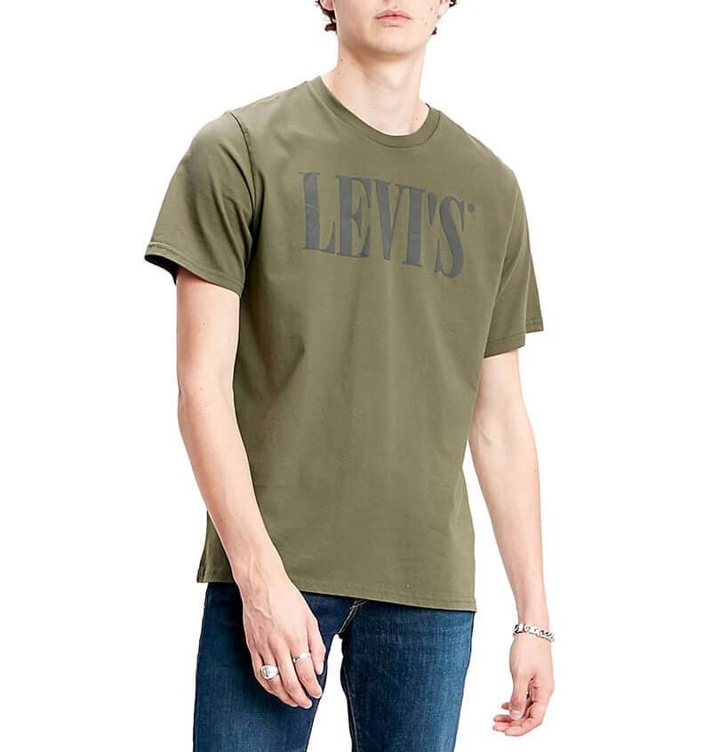 L. 90's Logo Haki T Shirt (SLE3)
