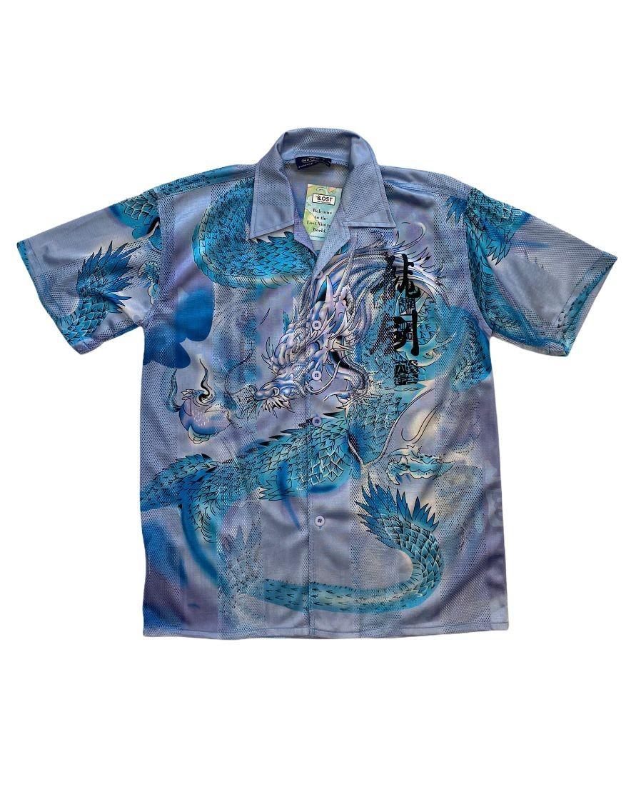 Dragon Forever Vintage Fileli Gömlek (S)
