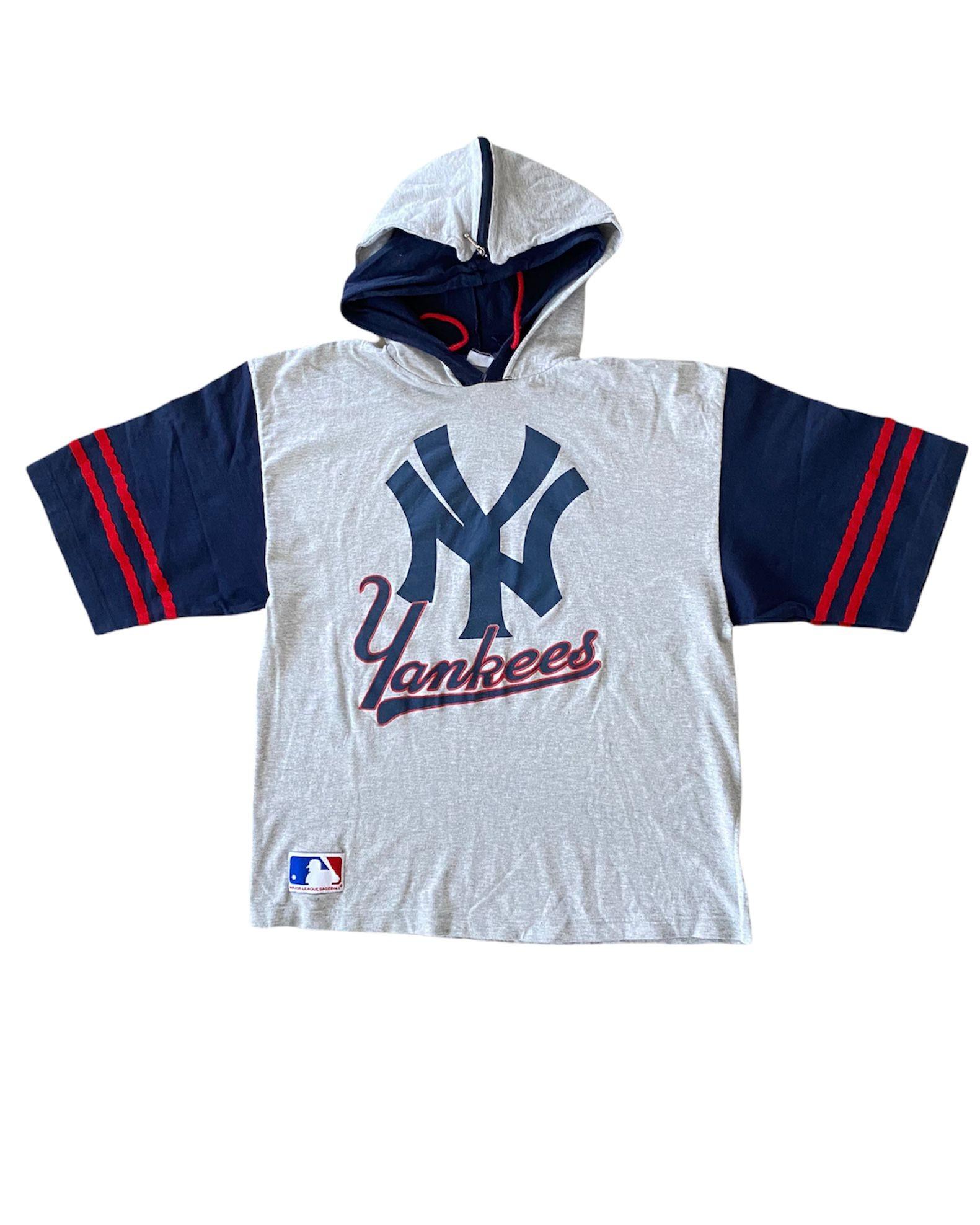 MLB New York Yankees Hooded T Shirt (M)