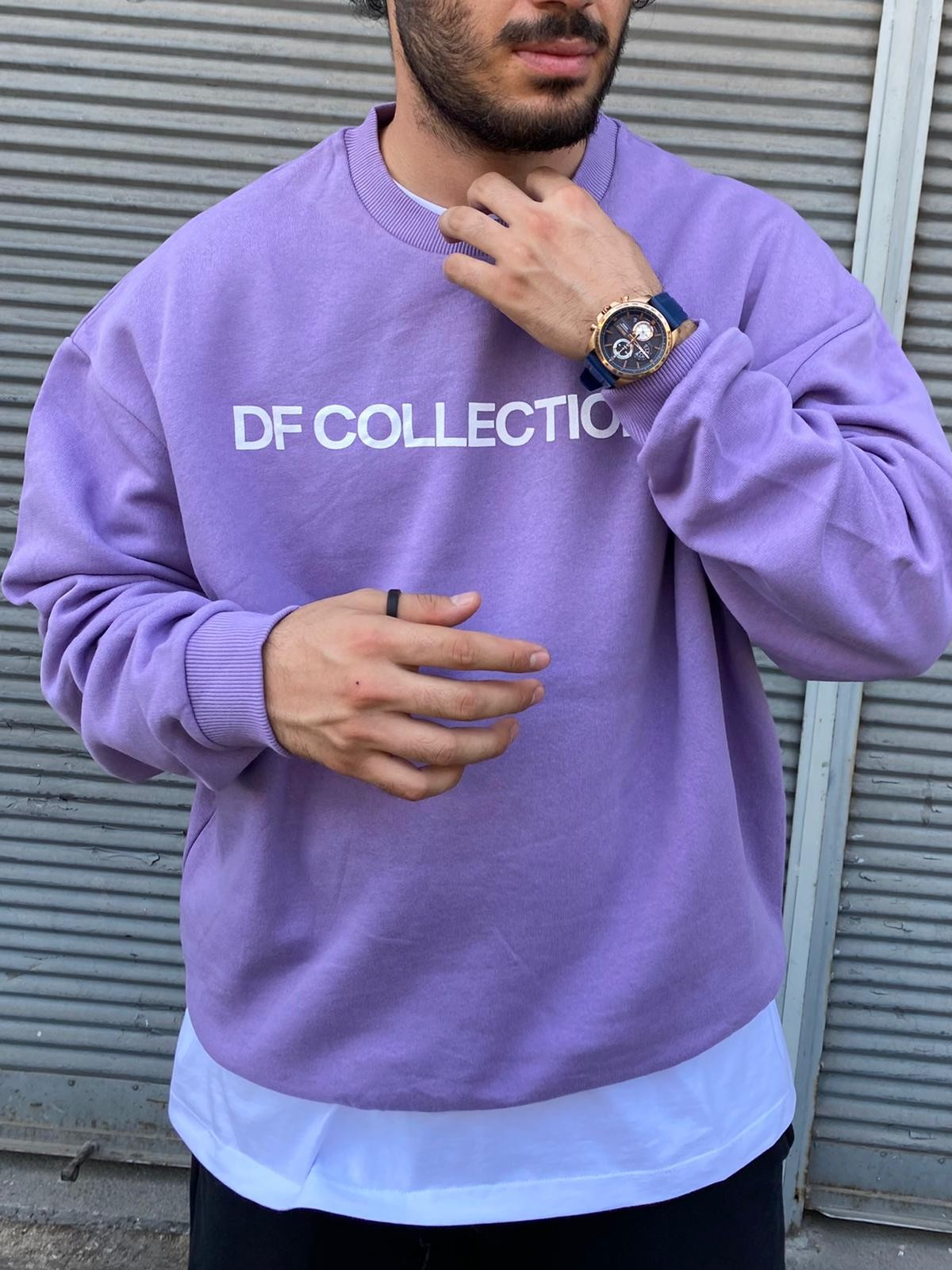 A. Design DF Collection Purple Sweatshirt (SAS51)