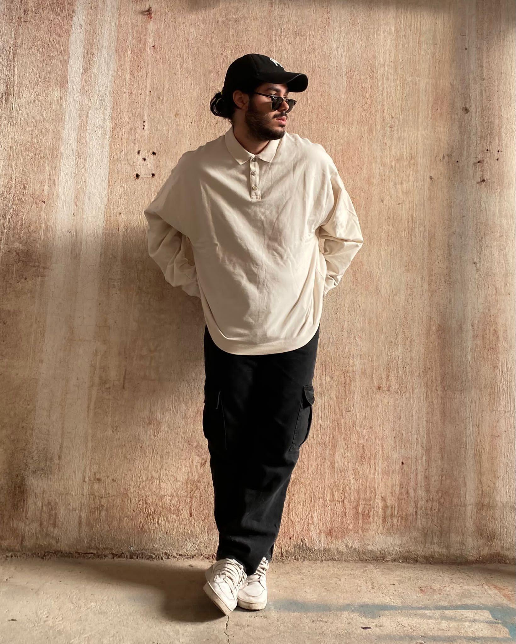 C. White Polo Sweatshirt (SCO18)