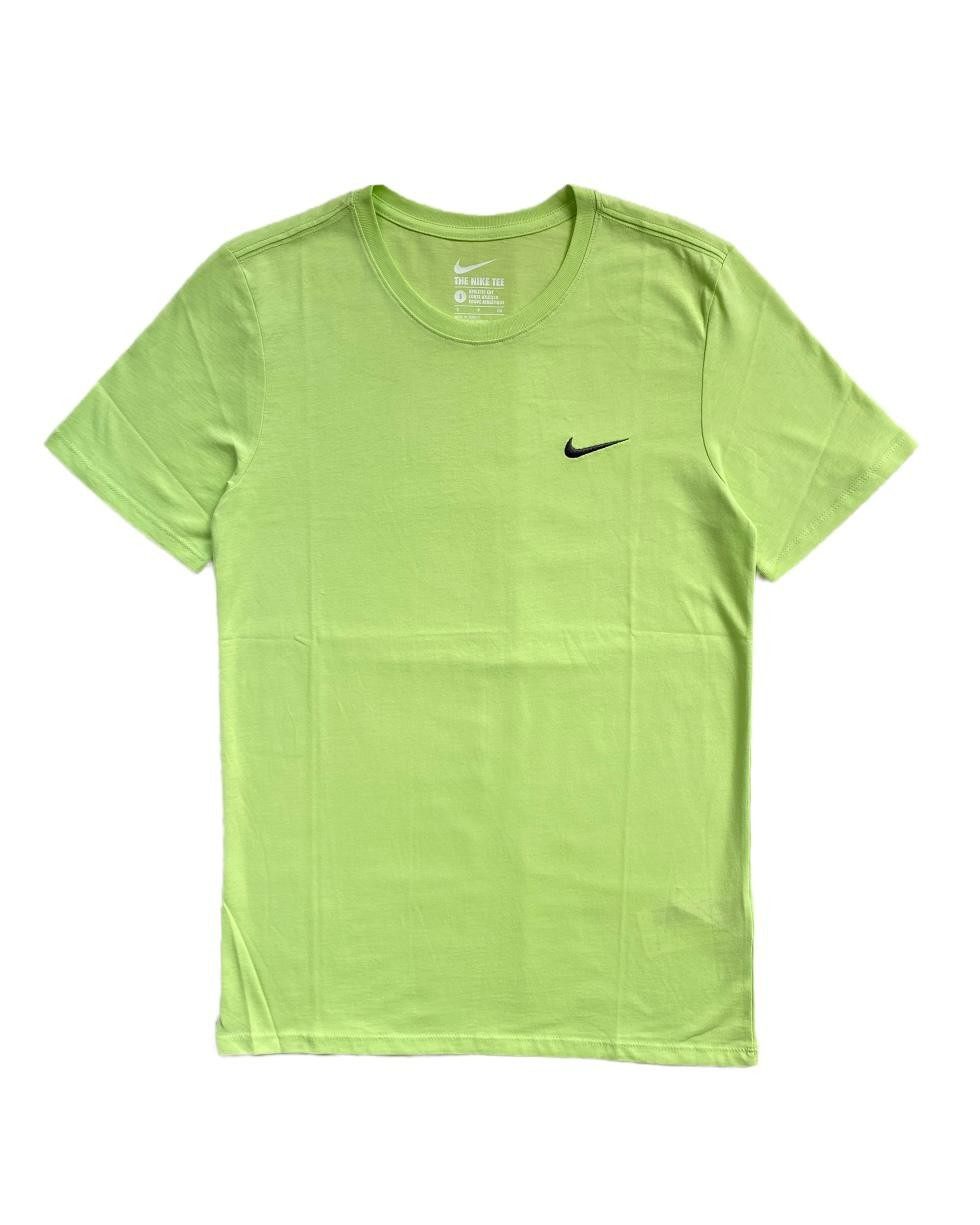 N. Swoosh Logo Neon Yeşil T Shirt (SNI11)