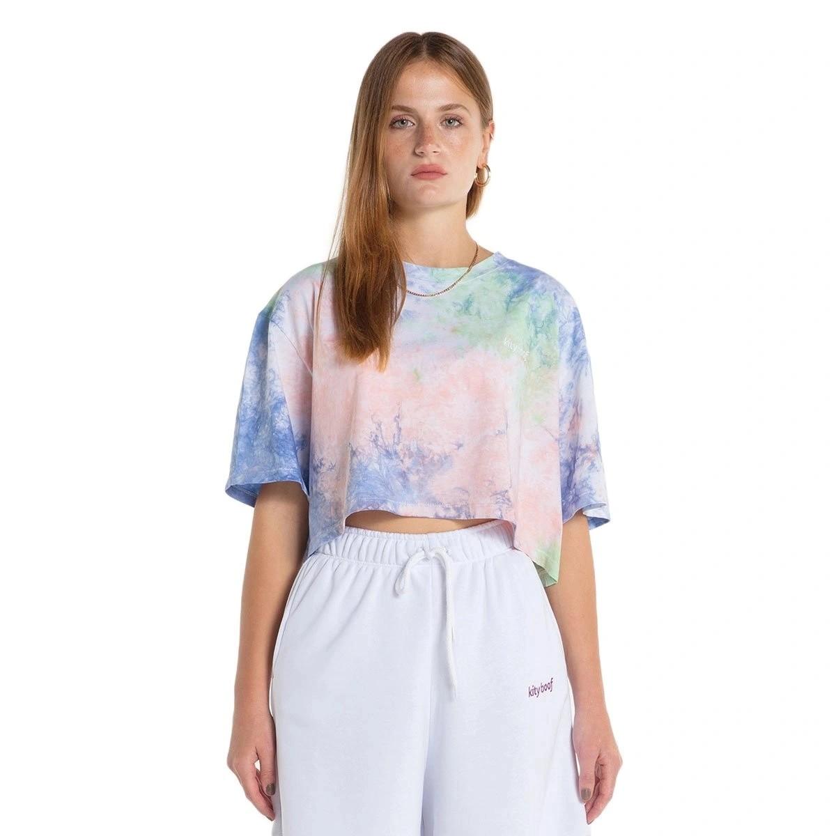 Kity Boof Cropped T-Shirt Tie-Dye
