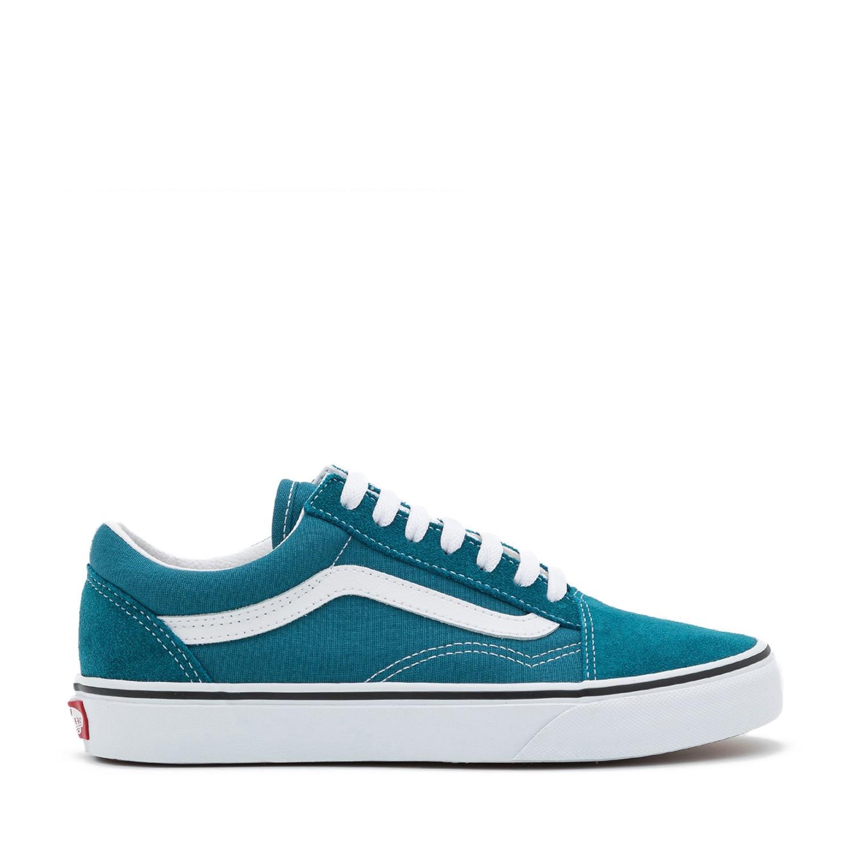 UA Old Skool Blue Coral/True White Unisex Spor Ayakkabısı