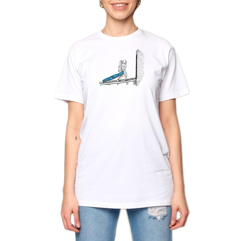 15UTS12 WMN Beyaz/Mavi Kadın T-Shirt
