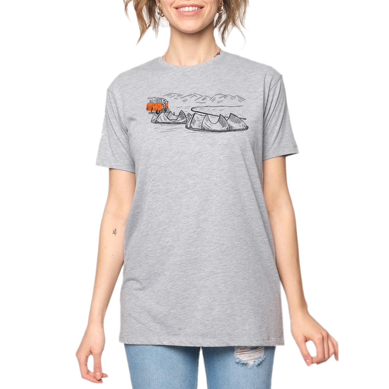 15UTS13 WMN Gri/Turuncu Kadın T-Shirt