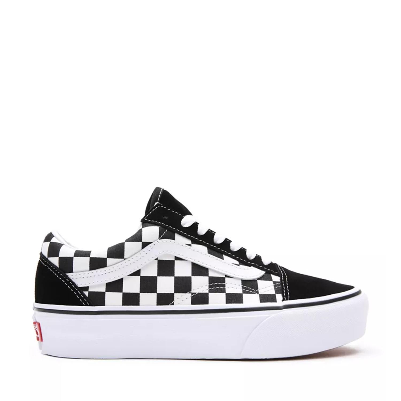 UA Old Skool Platform (Checkerboard) Black/True White Kadın Spor Ayakkabısı