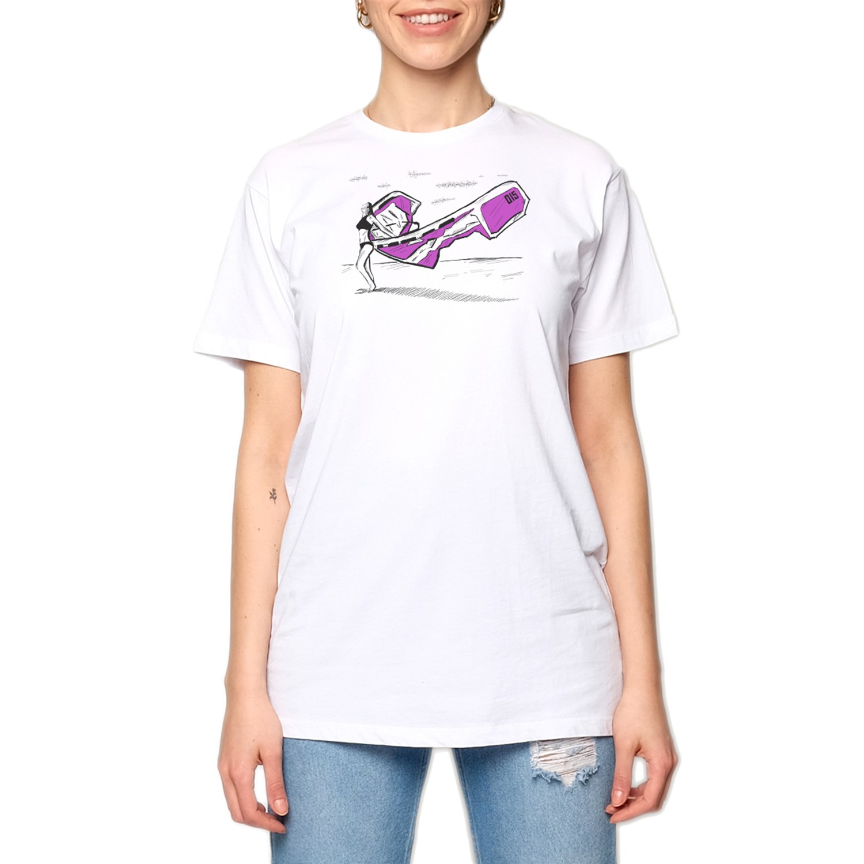 15UTS40 WMN Beyaz/Mor Kadın T-Shirt