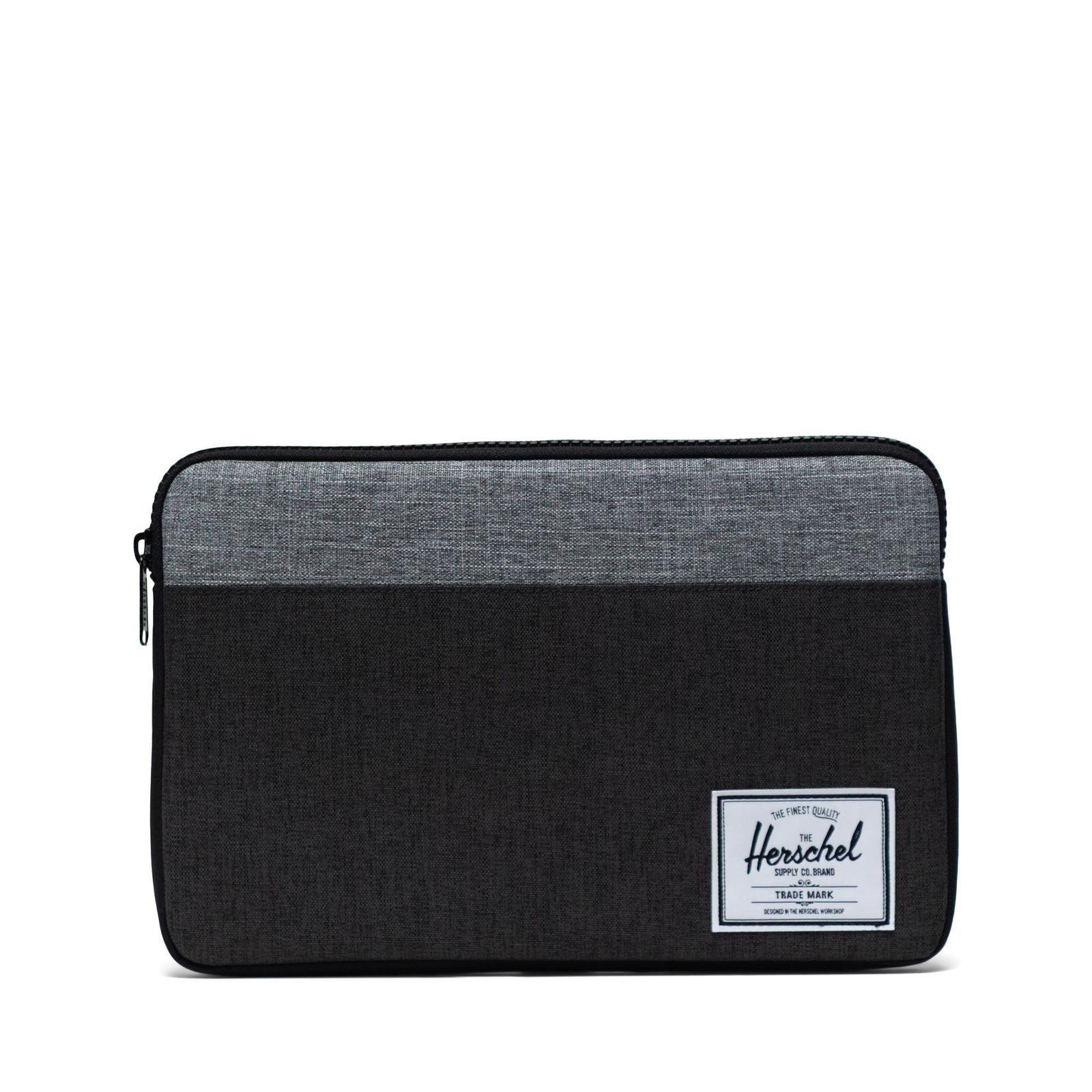 Herschel Laptop Kılıfı Anchor Sleeve for 12 inch MacBook Black Crosshatch/Black/Raven Crosshatch