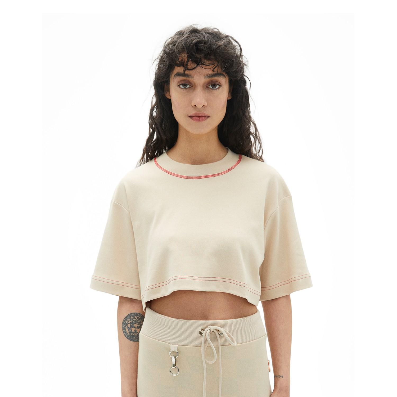 Bej Crop T-Shirt