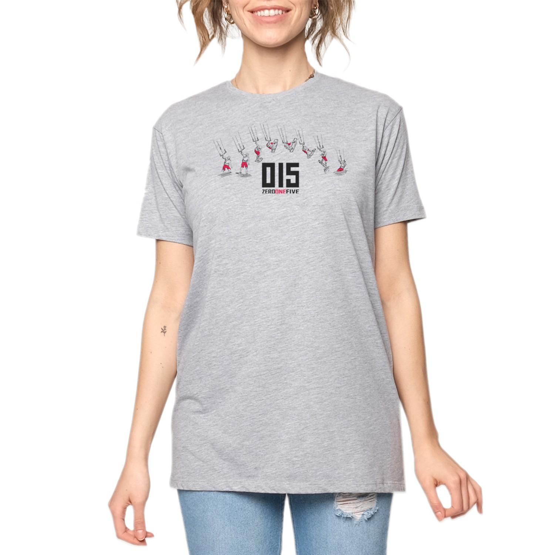 15UTS30 WMN Gri/Kırmızı Kadın T-Shirt