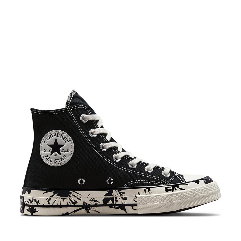 Chuck 70 Hi Floral Fusion Black/Egret/Egret Unisex Spor Ayakkabısı