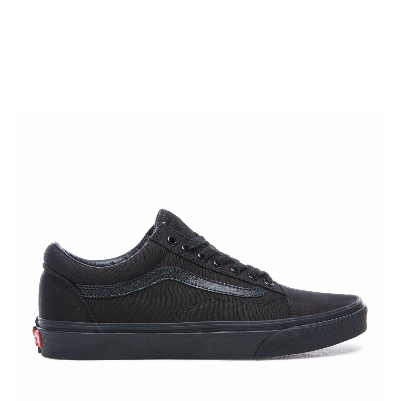UA Old Skool Black/Black (Canvas) Unisex Spor Ayakkabısı