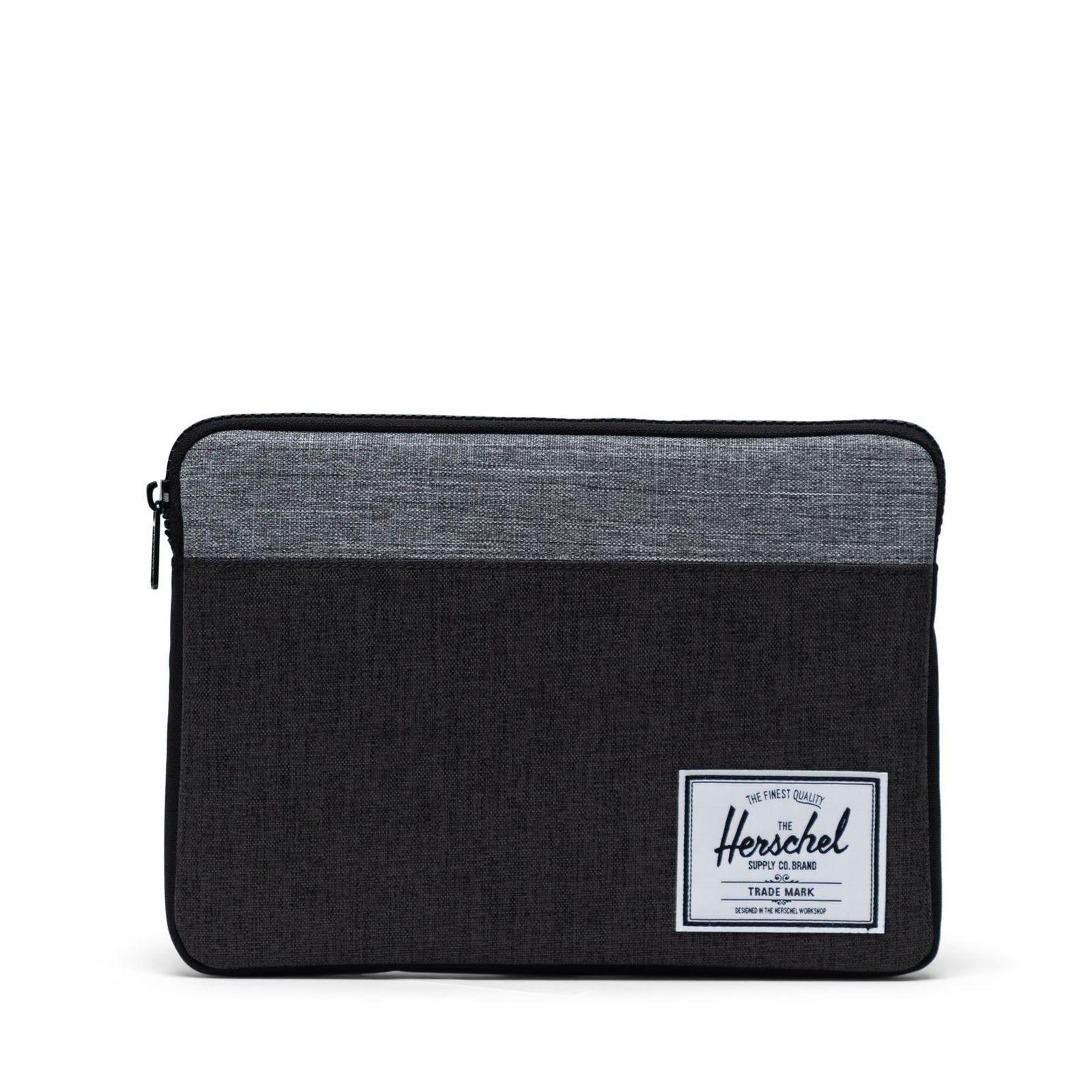 Herschel iPad Kılıfı Anchor Sleeve for iPad Air Black Crosshatch/Black/Raven Crosshatch