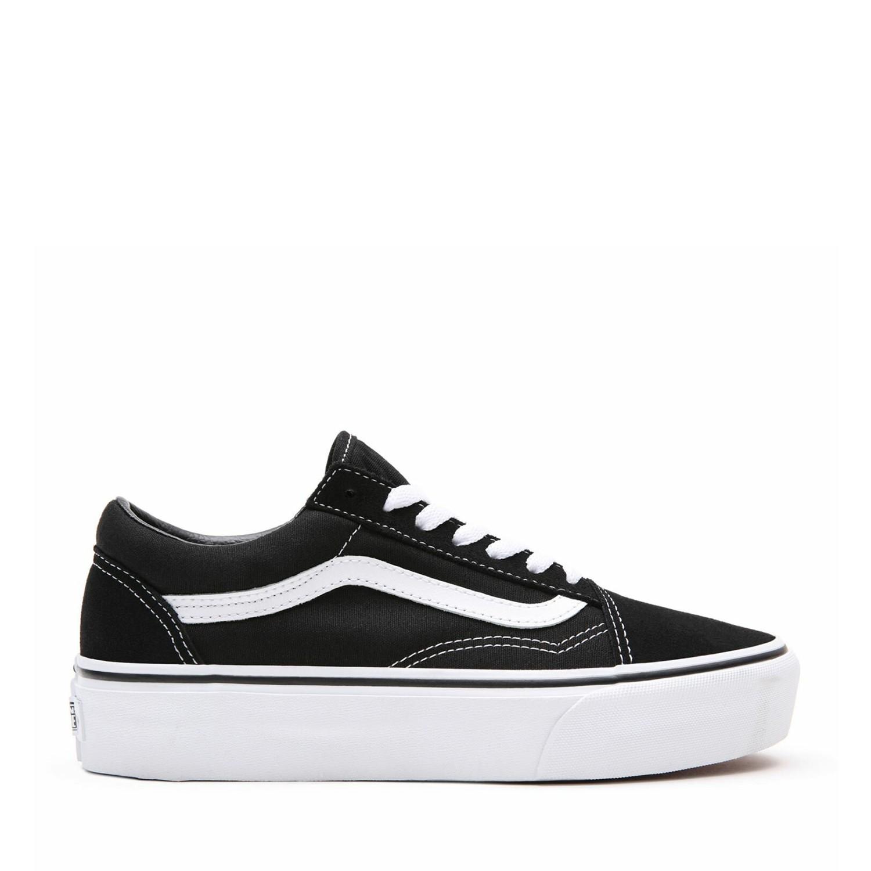 UA Old Skool Platform Black/White Kadın Spor Ayakkabısı