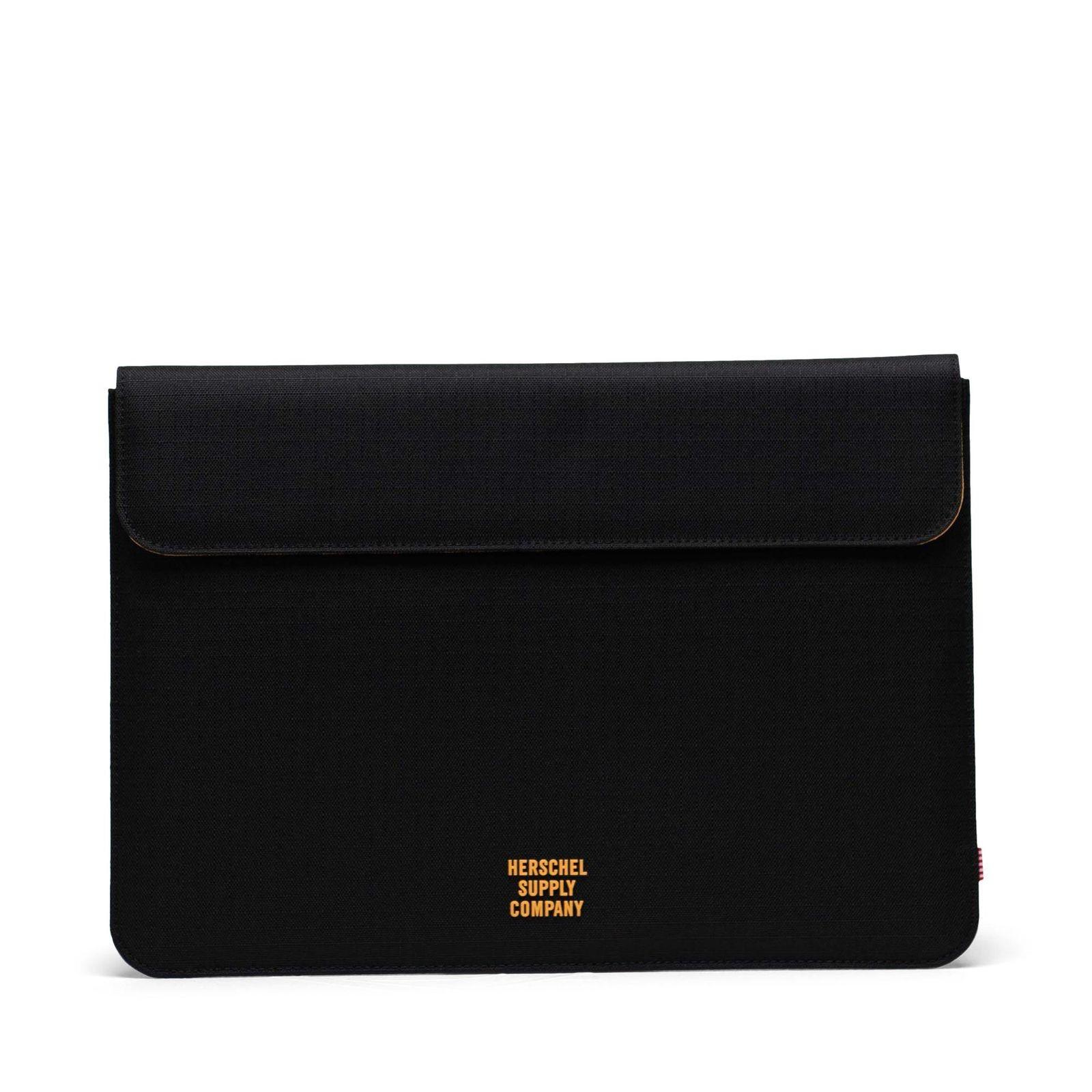 Herschel Spokane Sleeve for 13 inch MacBook Black Ripstop/Blazing Orange
