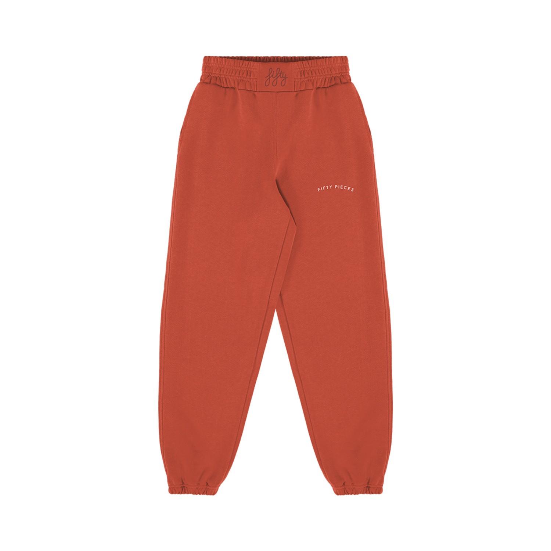 Loose Fit Kadın Jogger Vintage Kırmızı