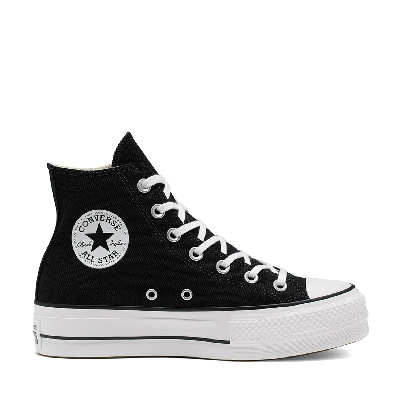 Chuck Taylor All Star Lift Black/White/White Unisex Spor Ayakkabısı