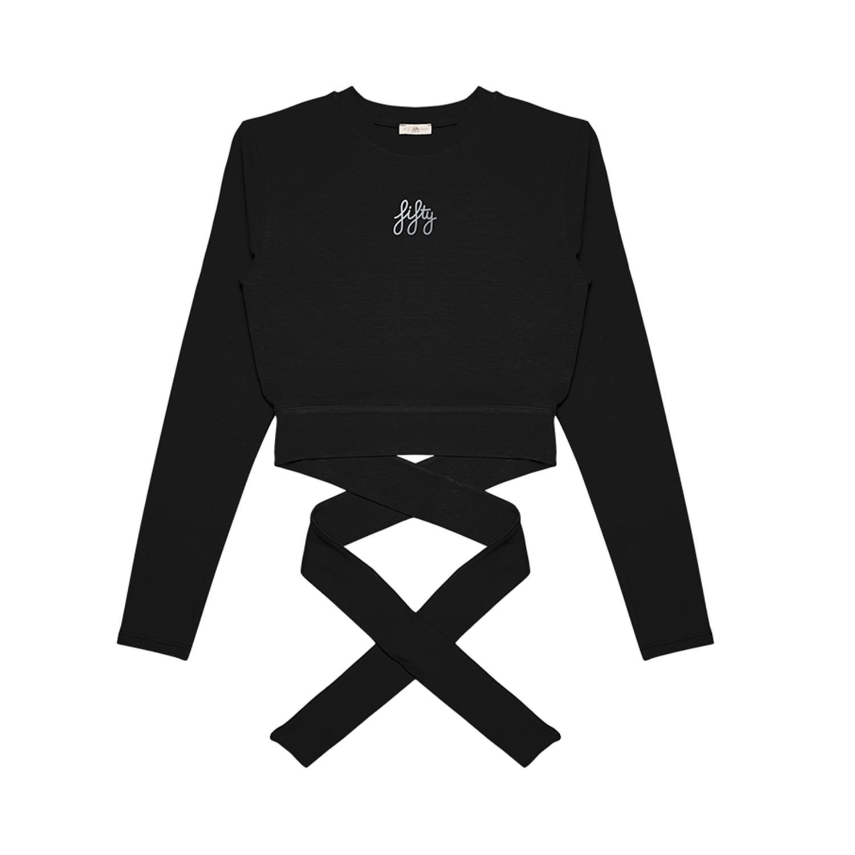 Yoga Crop Siyah