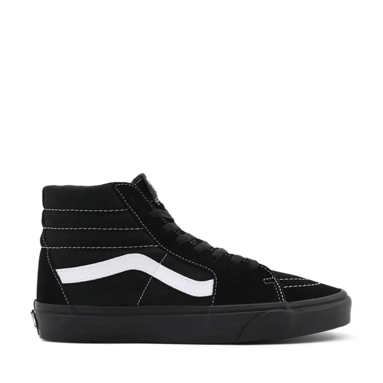 UA Sk8-Hi (Suede/Canvas) Black/Black/True White Unisex Spor Ayakkabısı