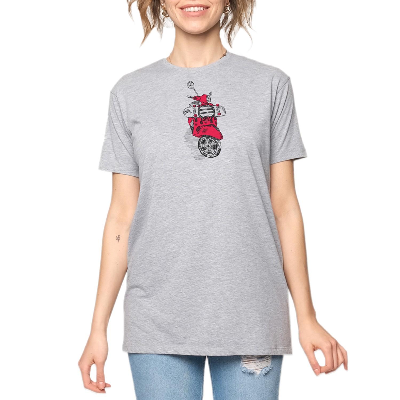 15UTS27 WMN Gri/Kırmızı Kadın T-Shirt